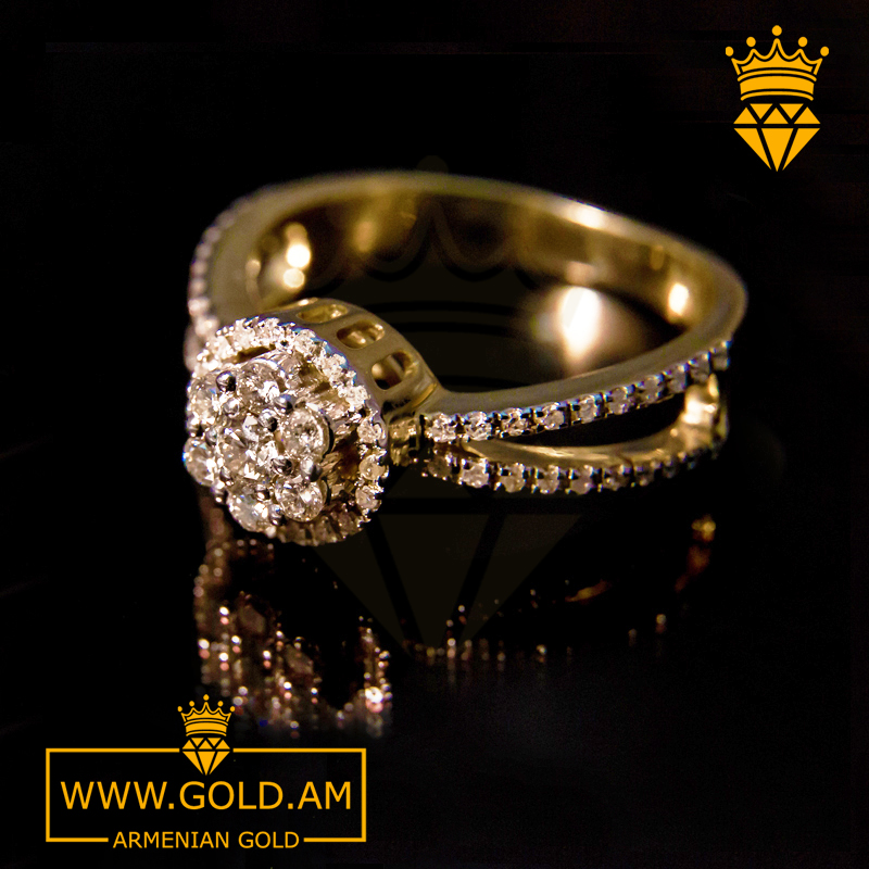 f700de0c74a Women   Yellow Gold Ring with Diamonds