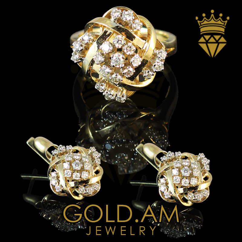 15ee2dbf7a9 Sets : Yellow Gold Set with Diamonds